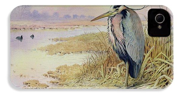 Grey Heron IPhone 4 Case by John James Audubon