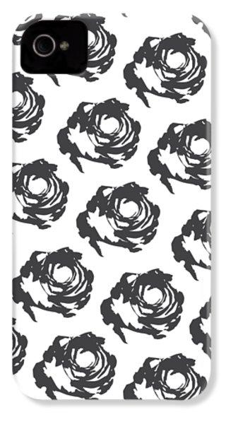 Grey Roses IPhone 4 Case by Cortney Herron