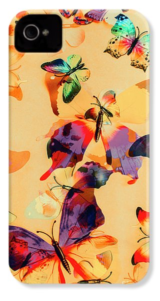 Group Of Butterflies With Colorful Wings IPhone 4 Case