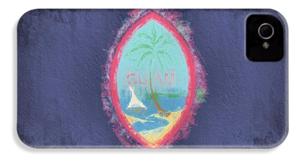 IPhone 4 Case featuring the digital art Guam Flag by JC Findley
