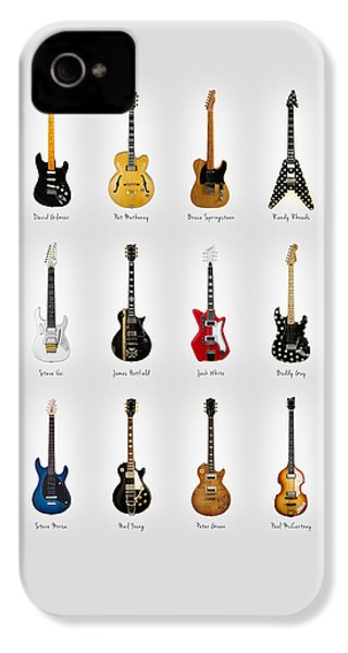 Guitar Icons No2 IPhone 4 Case by Mark Rogan