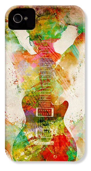 Guitar Siren IPhone 4 Case by Nikki Smith