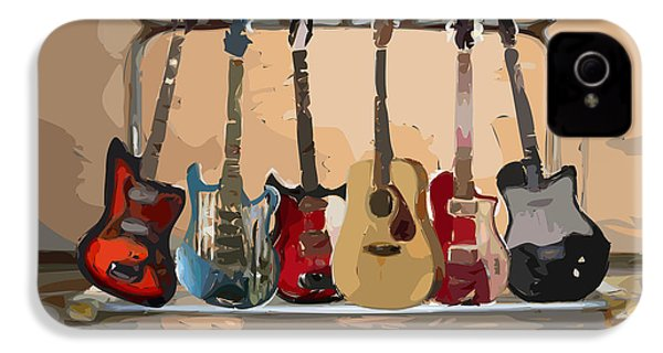 Guitars On A Rack IPhone 4 Case