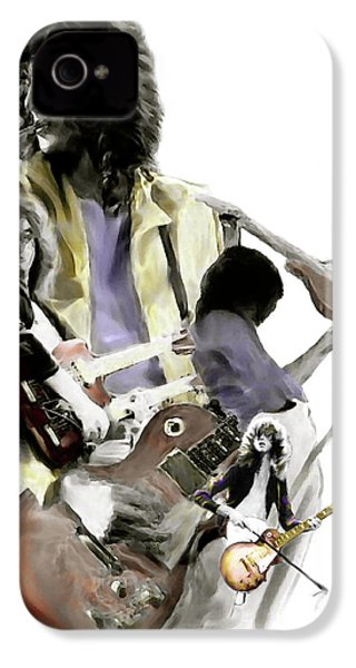 Hammer Of The Gods   Jimmy Page IPhone 4 / 4s Case by Iconic Images Art Gallery David Pucciarelli