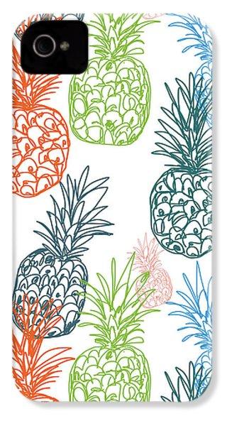 Happy Pineapple- Art By Linda Woods IPhone 4 Case