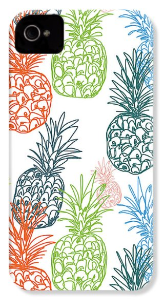 Happy Pineapple- Art By Linda Woods IPhone 4 / 4s Case by Linda Woods