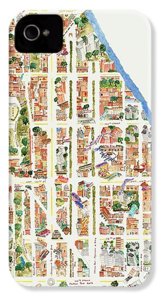 Harlem From 110-155th Streets IPhone 4 Case by Afinelyne