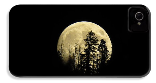 IPhone 4 Case featuring the photograph Harvest Moon by Karen Shackles