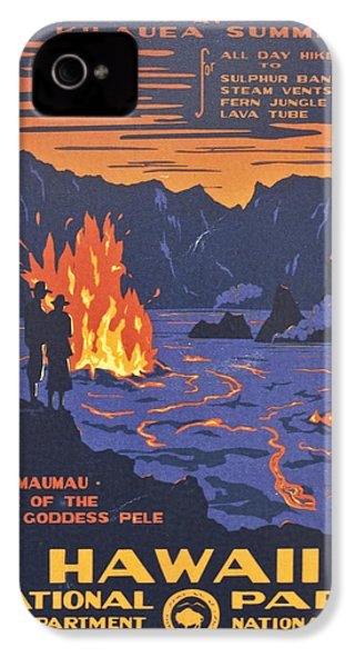 Hawaii Vintage Travel Poster IPhone 4 Case by Georgia Fowler
