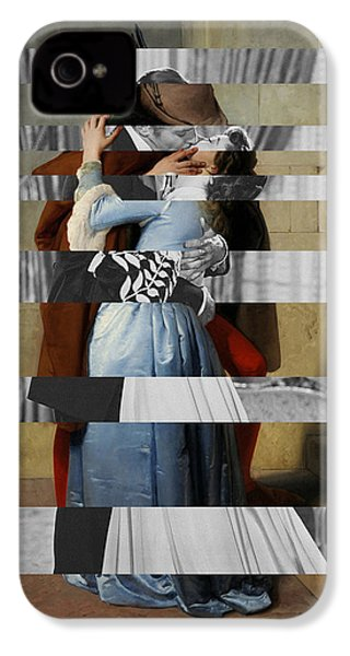 Hayes's The Kiss And Vivien Leigh With Clark Gable IPhone 4 Case by Luigi Tarini