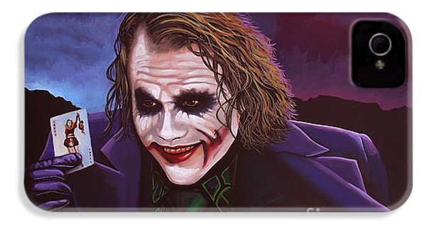 Heath Ledger As The Joker Painting IPhone 4 Case by Paul Meijering