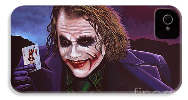 Heath Ledger As The Joker Painting IPhone 4 Case by Paul Meijering