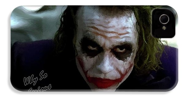Heath Ledger Joker Why So Serious IPhone 4 Case by David Dehner