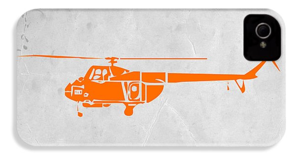 Helicopter IPhone 4 / 4s Case by Naxart Studio