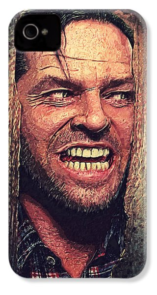Here's Johnny - The Shining  IPhone 4 Case by Taylan Apukovska