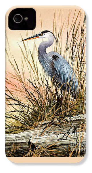Heron Sunset IPhone 4 Case by James Williamson
