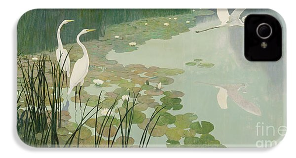Herons In Summer IPhone 4 Case by Newell Convers Wyeth
