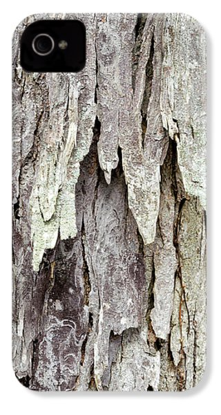IPhone 4 Case featuring the photograph Hickory Tree Bark Abstract by Christina Rollo