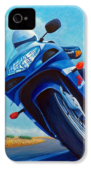 High Desert Pass - Suzuki Gsxr1000 IPhone 4 Case by Brian  Commerford