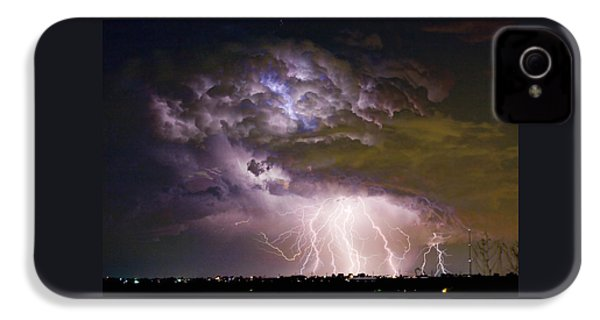 Highway 52 Storm Cell - Two And Half Minutes Lightning Strikes IPhone 4 Case by James BO  Insogna