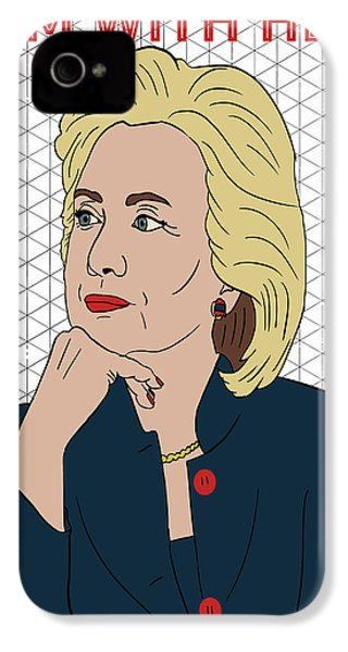Hillary Clinton I'm With Her IPhone 4 / 4s Case by Nicole Wilson