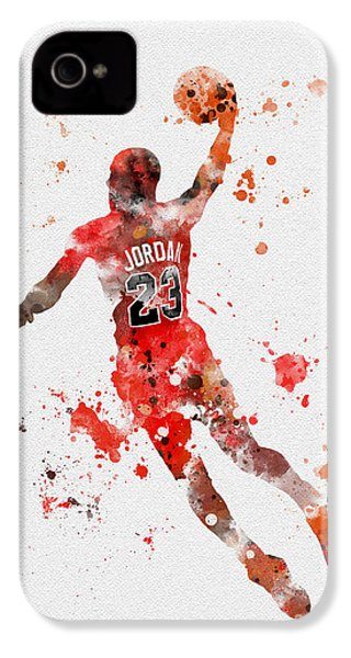 His Airness IPhone 4 Case by Rebecca Jenkins