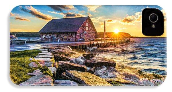Historic Anderson Dock In Ephraim Door County IPhone 4 Case by Christopher Arndt