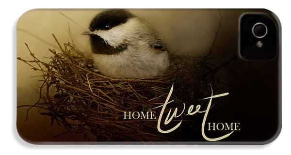 Home Tweet Home With Words IPhone 4 / 4s Case by Jai Johnson