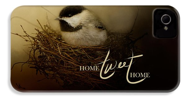 Home Tweet Home With Words IPhone 4 Case