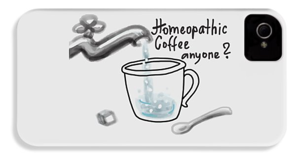 Homeopathic Coffee IPhone 4 Case