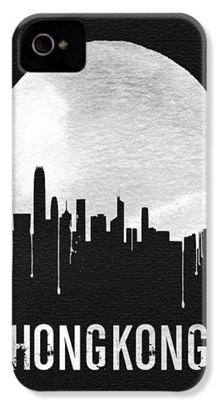 Hong Kong Skyline Black IPhone 4 Case by Naxart Studio