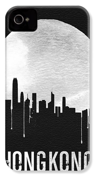 Hong Kong Skyline Black IPhone 4 Case