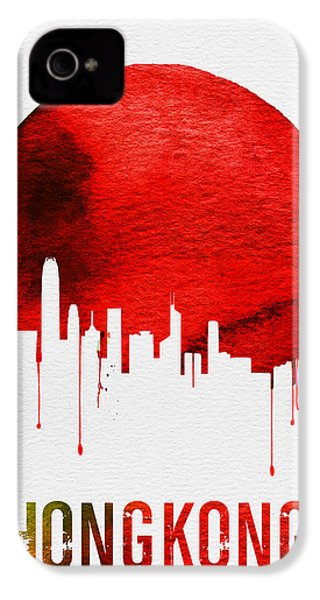 Hong Kong Skyline Red IPhone 4 Case