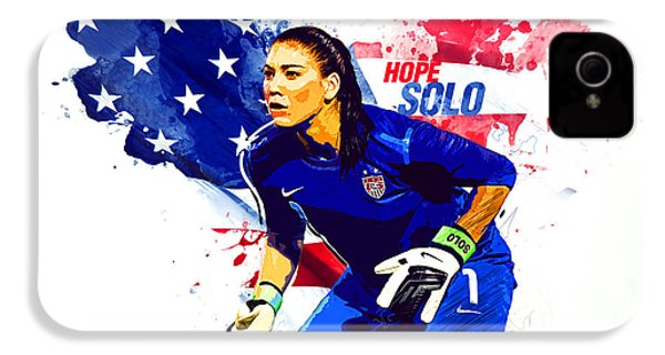 Hope Solo IPhone 4 Case by Semih Yurdabak
