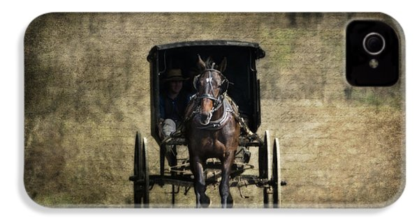 Horse And Buggy IPhone 4 Case by Tom Mc Nemar