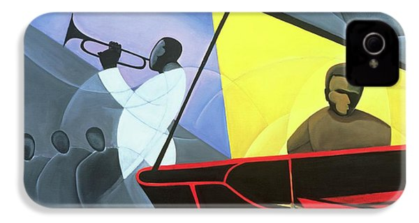 Hot And Cool Jazz IPhone 4 Case by Kaaria Mucherera