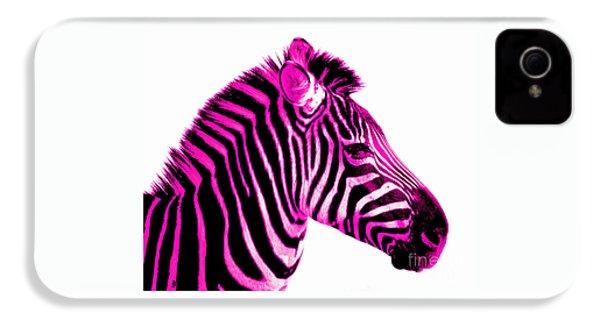 Hot Pink Zebra IPhone 4 Case by Rebecca Margraf