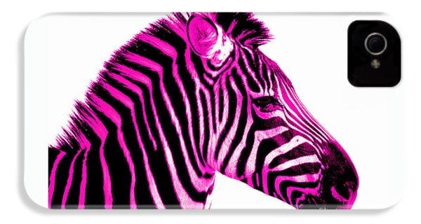 Hot Pink Zebra IPhone 4 / 4s Case by Rebecca Margraf