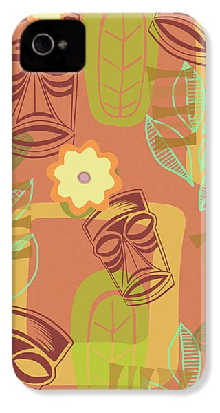 Hour At The Tiki Room IPhone 4 Case by Little Bunny Sunshine