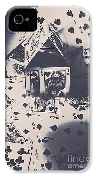 IPhone 4 Case featuring the photograph House Of Cards by Jorgo Photography - Wall Art Gallery