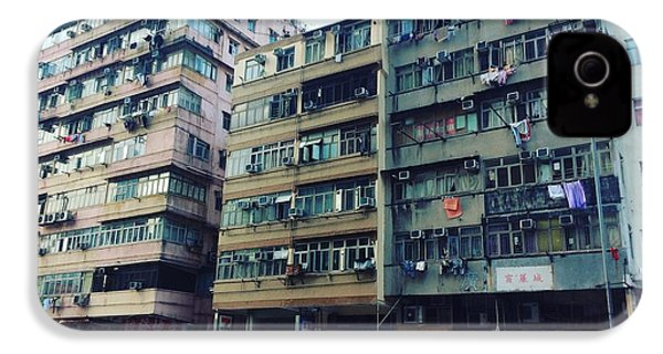Houses Of Kowloon IPhone 4 Case by Florian Wentsch