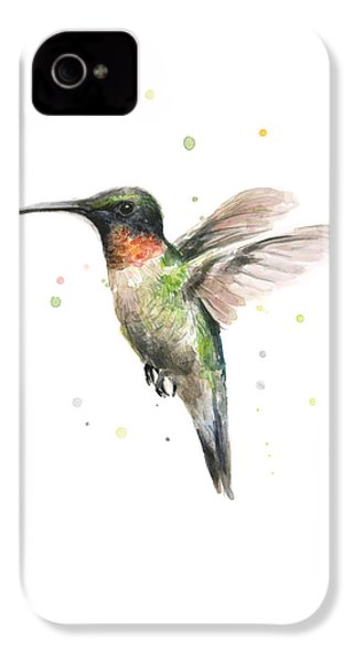 Hummingbird IPhone 4 / 4s Case by Olga Shvartsur