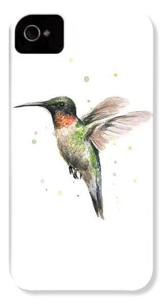Hummingbird IPhone 4 Case by Olga Shvartsur