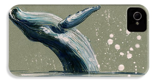 Humpback Whale Swimming IPhone 4 Case