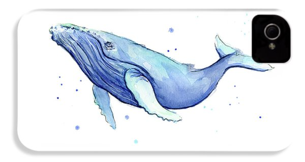 Humpback Whale Watercolor IPhone 4 Case