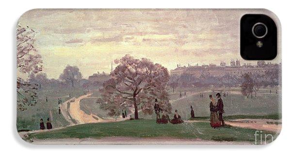 Hyde Park IPhone 4 Case by Claude Monet