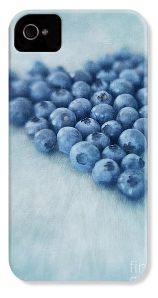 I Love Blueberries IPhone 4 / 4s Case by Priska Wettstein