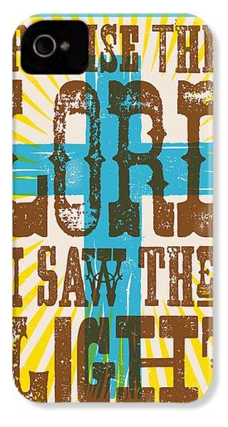 I Saw The Light Lyric Poster IPhone 4 Case