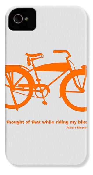 I Thought Of That While Riding My Bike IPhone 4 / 4s Case by Naxart Studio