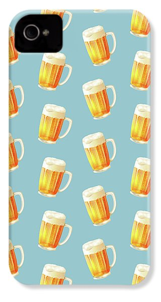 Ice Cold Beer Pattern IPhone 4 Case by Little Bunny Sunshine